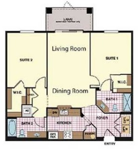 Windsor Hills Napa Condo Floorplan