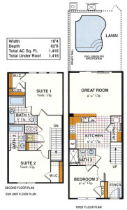 Windsor Hills Saddlebrook Exterior Townhome Floorplan
