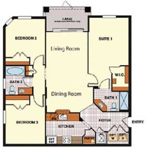 Windsor Hills Sonoma Condo Floorplan
